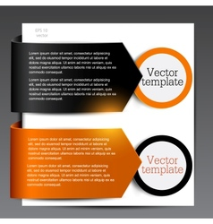 Colorful bookmarks for speech black and orange vector