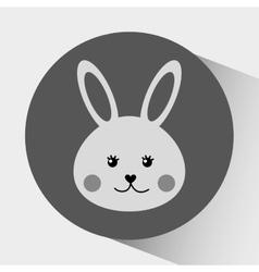 cute rabbit design vector image
