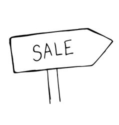 Doodle sketchy of signpost sale vector
