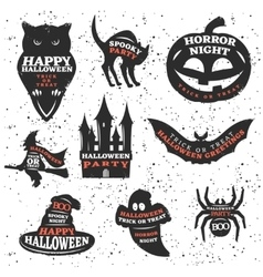 Halloween Elements And Quotes Set vector image vector image