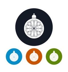 Icon of a christmas ball vector