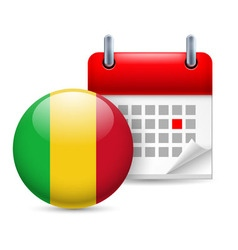 Icon of national day in mali vector image