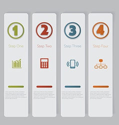 Infographic Design number banners template graphic vector image vector image