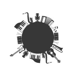 Instrument music sound icon set graphic vector