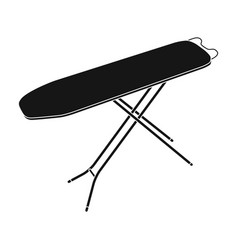 ironing board dry cleaning single icon in black vector image vector image