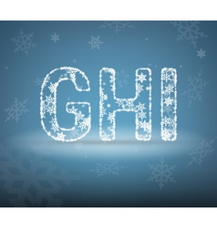 Letters made from snowflakes vector image vector image