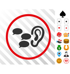 Listen gossips rounded icon with bonus vector