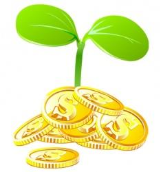 money growth vector image