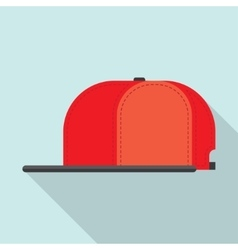Rap cap bill baseball vector image