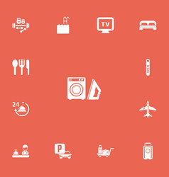 set of 13 editable plaza icons includes symbols vector image vector image