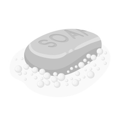 Soap icon in monochrome style isolated on white vector