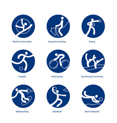 summer sports icons vector image vector image