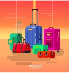 Travel bags Luggage suitcase vector image