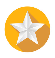 Volumetric five-pointed star icon of classic vector