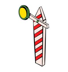 Rail semaphore icon icon cartoon vector