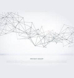 Digital wareframe wire mesh background vector