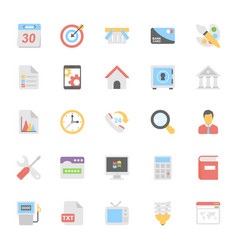 Web design flat colored icons 4 vector