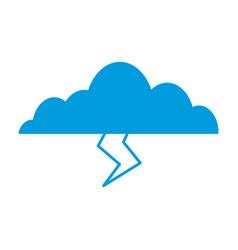 Clouds sky weather lightning seasonal icon vector