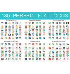 180 complex flat icons concept symbols of vector