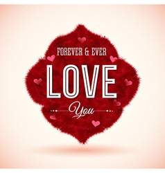 Fluffy icon for your romantic design vector