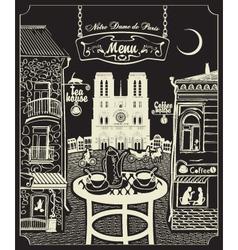 Paris cafe vector