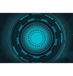 sphere technology background vector image