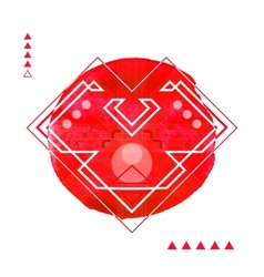 Geometric hipster print heart  futuristic line vector