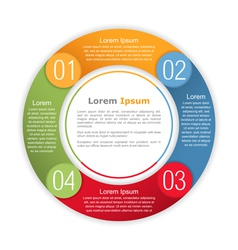 Circle infographics template vector