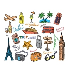 Hand drawn travel vector