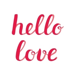 Hello love lettering vector