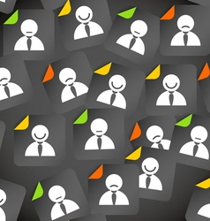 Abstract crowd of social media account avatars vector