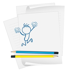 A sketch on a piece of paper vector image vector image