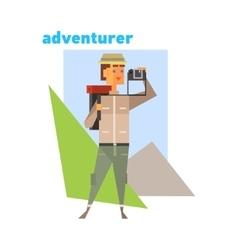 Adventurer Abstract Figure vector image