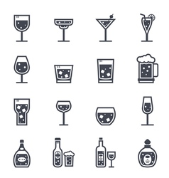 Alcohol beverage icon vector
