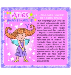Aries Zodiac kid vector image