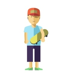 Boy character isolated vector