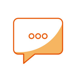 bubble speech chat message image vector image