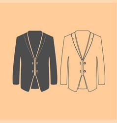Business suit dark grey set icon vector