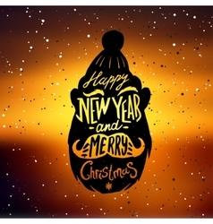 Christmas silhouettes Santa vector image