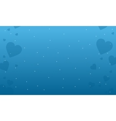 Collection stock valentine day on blue backgrounds vector image