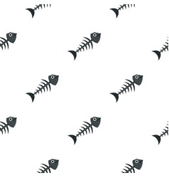 Fish bone pattern seamless vector
