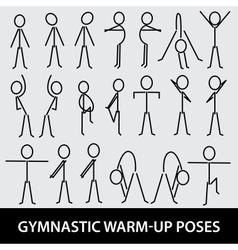 gymnastic warm-up poses eps10 vector image vector image