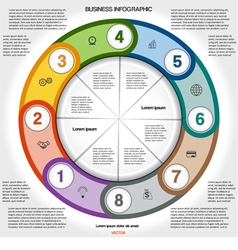 Infographic for success business project 8 vector image