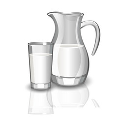 Milk carafe cup of milk vector
