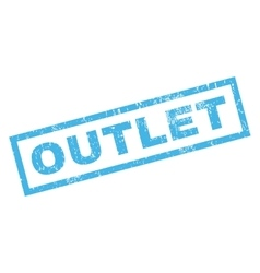 Outlet rubber stamp vector