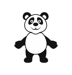 Panda bear icon simple style vector image