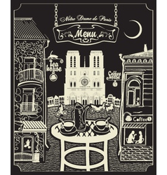 Paris cafe vector image vector image