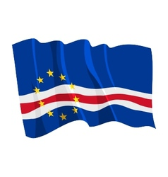 Political waving flag of cape verde vector