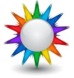 Rainbow button vector image vector image