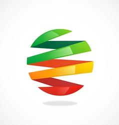 Ribbon round slice color logo vector